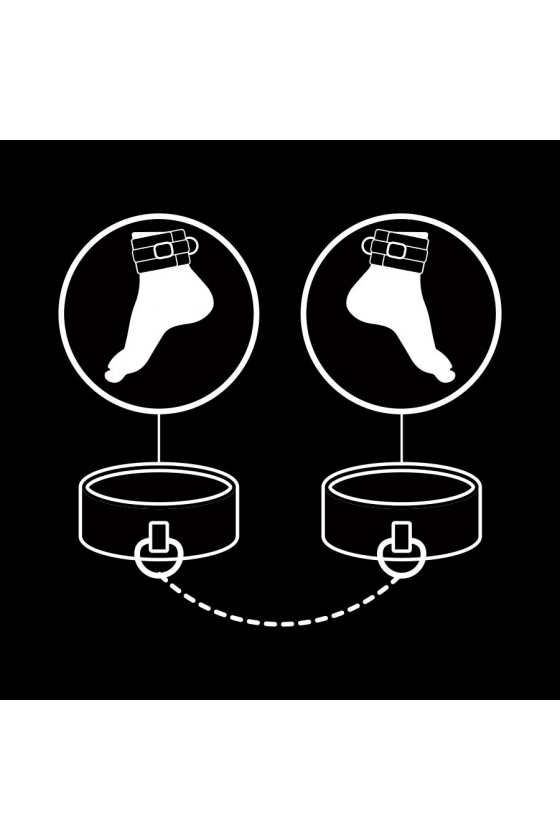 FETISH SUBMISSIVE ANKLE CUFFS WITH PULLER