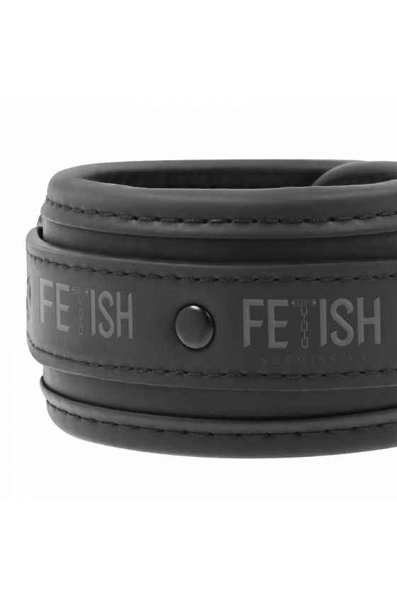 FETISH SUBMISSIVE COLAR AND WRIST CUFFS VEGAN LEATHER