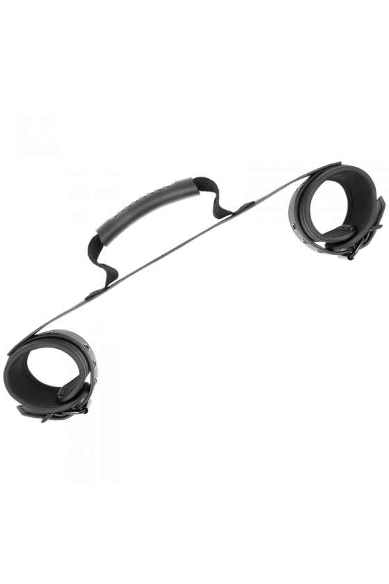 FETISH SUBMISSIVE CUFFS WITH PULLER