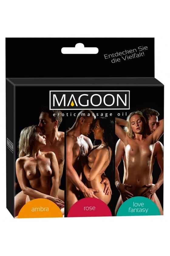 MAGOON SET  MASSAGE OIL 3x100